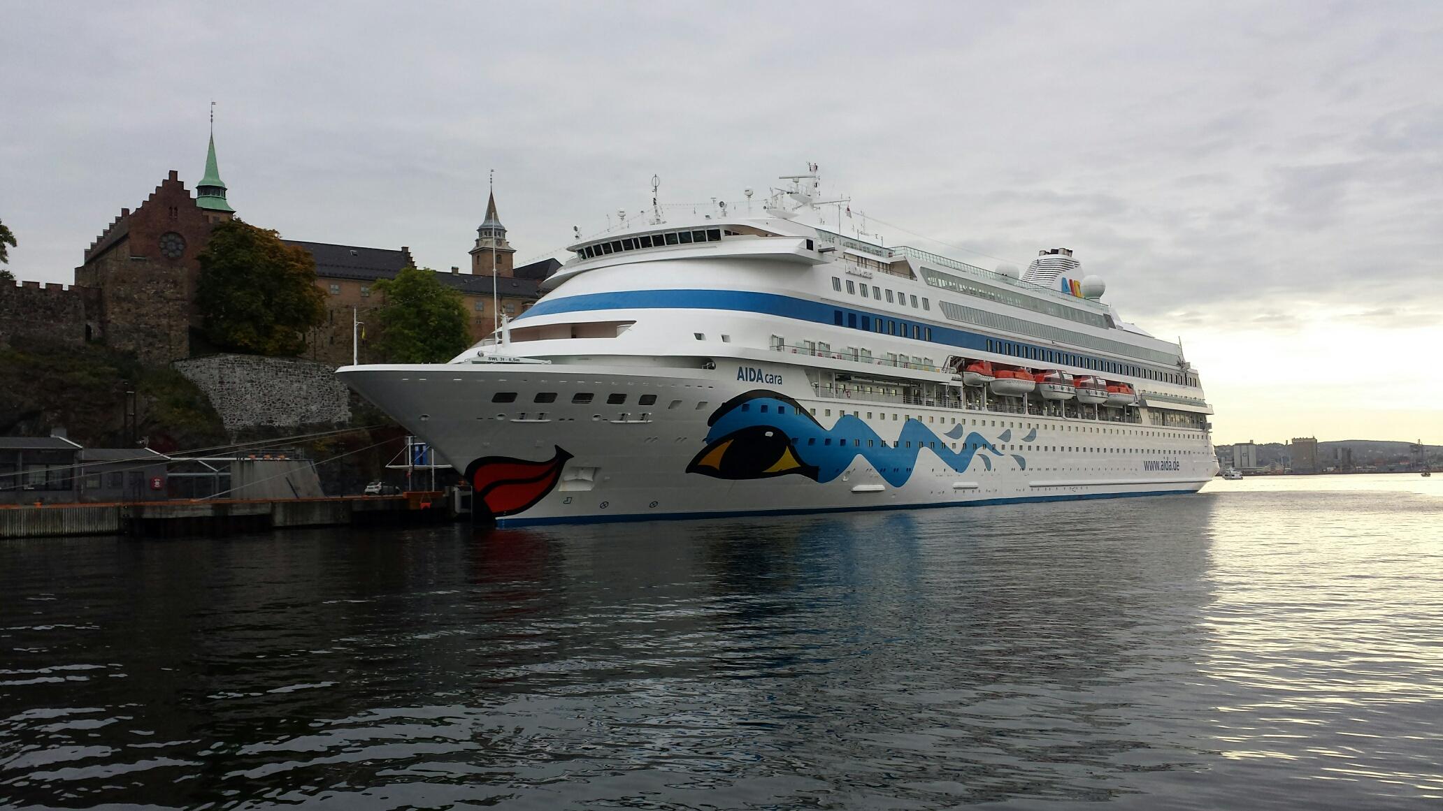 AIDAcara ved kai i Oslo. Foto Odd Bjørn Bekkeheien, Stavanger Havn