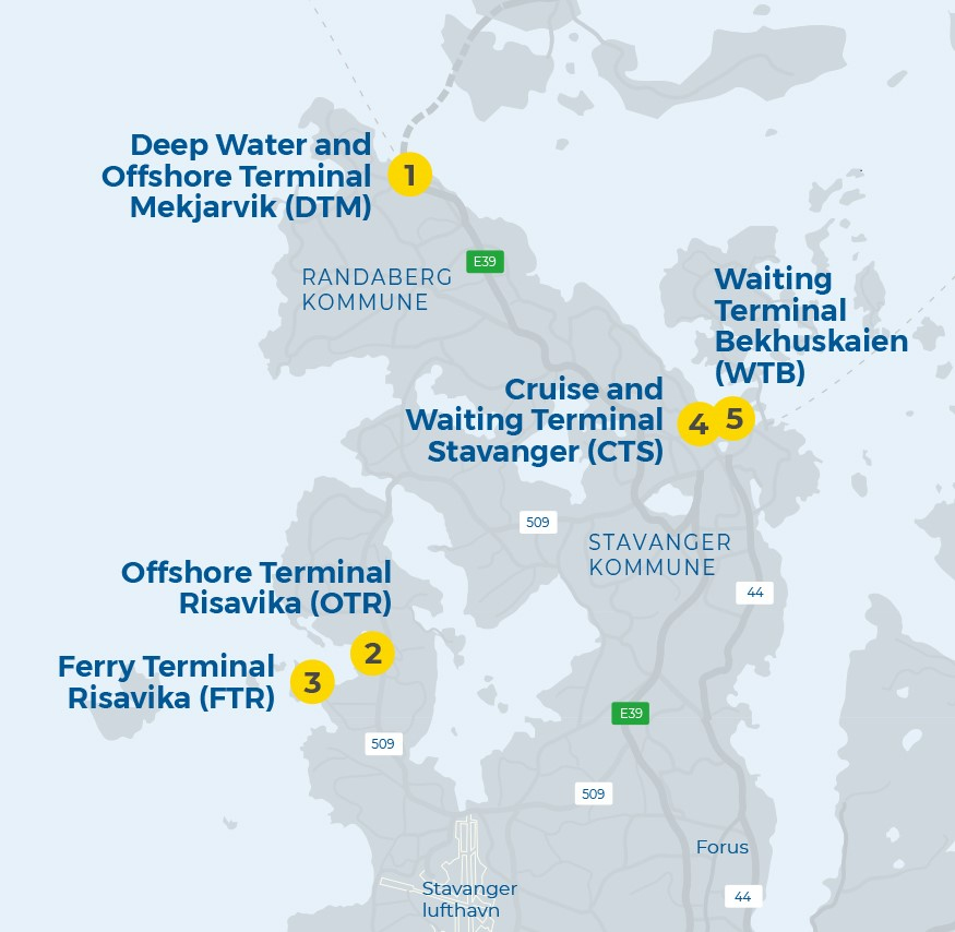 Port of Stavanger, Our port facilities where the new access solution will be used