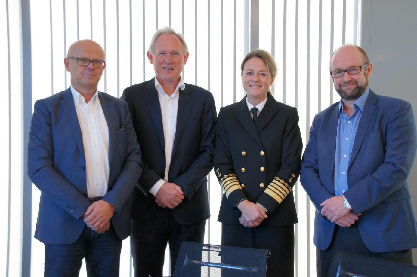 Fra venstre: Leif Emil Brekke, Per Åge Hauge, Merete Eik og John Stangeland