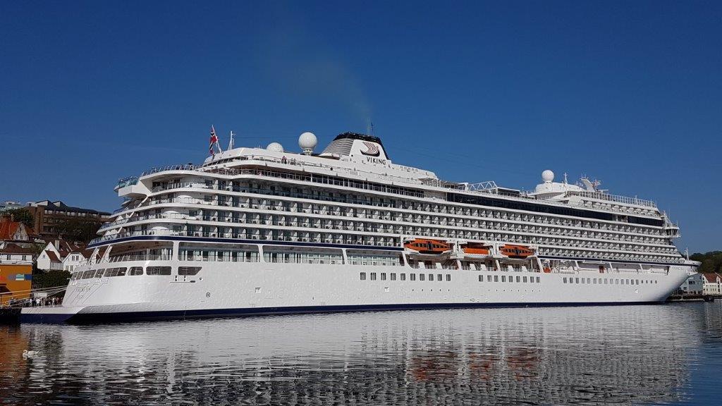 """""""Viking Sea"""" er ett av tre helt nye søsterskip som er bygget i Italia."""